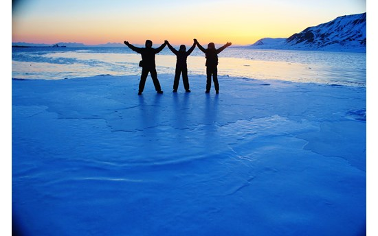 Michal, Katka & Ziva, In The Arctic Twilight, Svalbard, Norway (2)