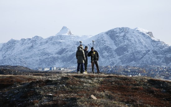 Land surveying in Greenland